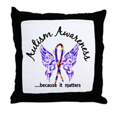 Autism Butterfly 6.1 Throw Pillow