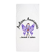 Autism Butterfly 6.1 Beach Towel