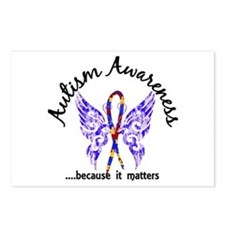 Autism Butterfly 6.1 Postcards (Package of 8)