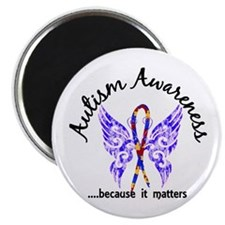 """Autism Butterfly 6.1 2.25"""" Magnet (100 pack)"""