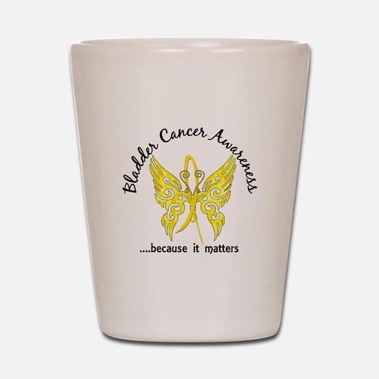 Bladder Cancer Butterfly 6.1 Shot Glass