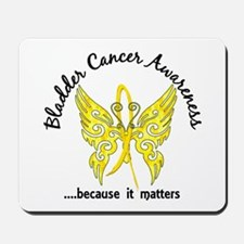 Bladder Cancer Butterfly 6.1 Mousepad
