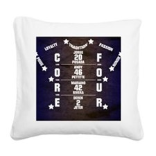 Yankees Core Four Square Canvas Pillow