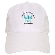 Cervical Cancer Butterfly 6.1 Baseball Cap