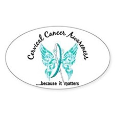 Cervical Cancer Butterfly 6.1 Decal