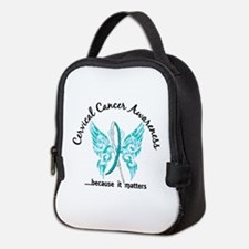 Cervical Cancer Butterfly 6.1 Neoprene Lunch Bag