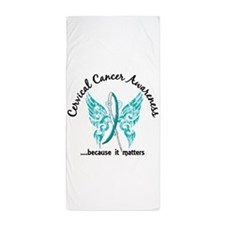 Cervical Cancer Butterfly 6.1 Beach Towel