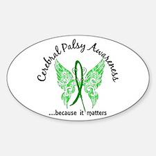 Cerebral Palsy Butterfly 6.1 Sticker (Oval)