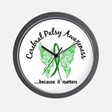 Cerebral Palsy Butterfly 6.1 Wall Clock