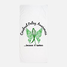 Cerebral Palsy Butterfly 6.1 Beach Towel