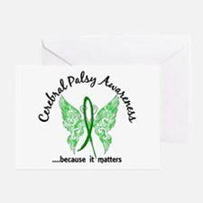 Cerebral Palsy Butterfly 6.1 Greeting Card