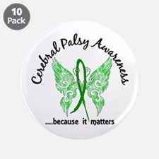 "Cerebral Palsy Butterfly 6.1 3.5"" Button (10 pack)"