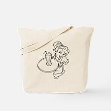 Diner Waitress Tote Bag