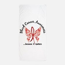 Blood Cancer Butterfly 6.1 Beach Towel