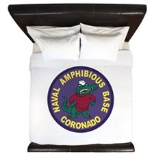 US NAVAL AMPHIBIOUS BASE CORONADO Patch King Duvet