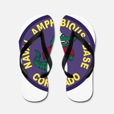 US NAVAL AMPHIBIOUS BASE CORONADO Patch Flip Flops