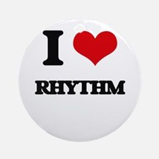 I Love Rhythm Ornament (Round)