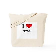 I Love Ribs Tote Bag