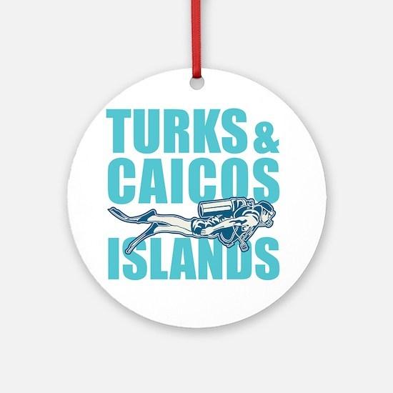 Turks and Caicos Islands - Scuba Round Ornament