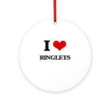 I Love Ringlets Ornament (Round)