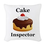 Cake Inspector Woven Throw Pillow