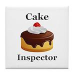 Cake Inspector Tile Coaster