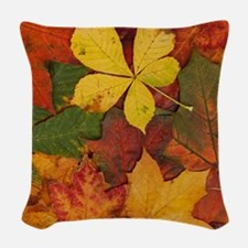 FALL LEAVES Woven Throw Pillow