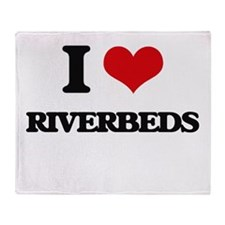 I Love Riverbeds Throw Blanket