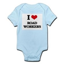 I Love Road Workers Body Suit