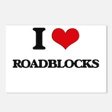 I Love Roadblocks Postcards (Package of 8)