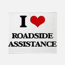 I Love Roadside Assistance Throw Blanket
