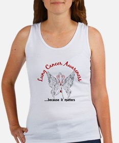 Lung Cancer Butterfly 6.1 Women's Tank Top