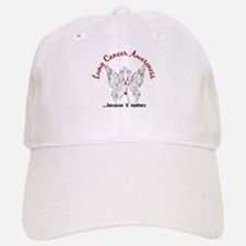 Lung Cancer Butterfly 6.1 Baseball Baseball Cap