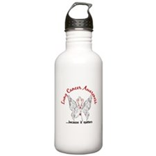 Lung Cancer Butterfly Water Bottle