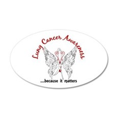 Lung Cancer Butterfly 6.1 Wall Decal