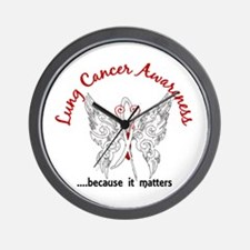 Lung Cancer Butterfly 6.1 Wall Clock