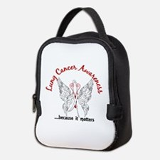 Lung Cancer Butterfly 6.1 Neoprene Lunch Bag