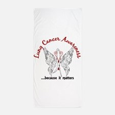 Lung Cancer Butterfly 6.1 Beach Towel