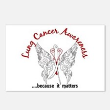 Lung Cancer Butterfly 6.1 Postcards (Package of 8)