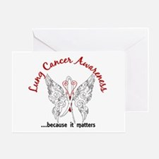 Lung Cancer Butterfly 6.1 Greeting Card