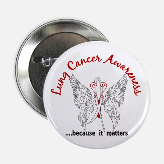 "Lung Cancer Butterfly 6.1 2.25"" Button (10 pack)"