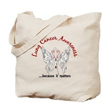 Lung Cancer Butterfly 6.1 Tote Bag