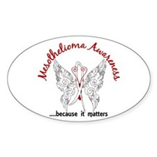 Mesothelioma Butterfly 6.1 Decal