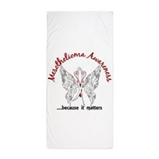 Mesothelioma Butterfly 6.1 Beach Towel