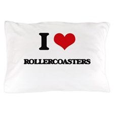 I Love Rollercoasters Pillow Case