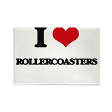 I Love Rollercoasters Magnets