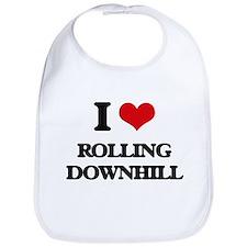 I Love Rolling Downhill Bib