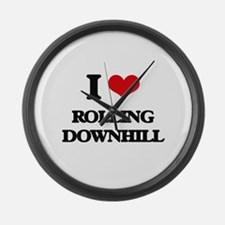 I Love Rolling Downhill Large Wall Clock