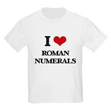 I Love Roman Numerals T-Shirt