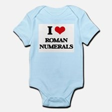 I Love Roman Numerals Body Suit
